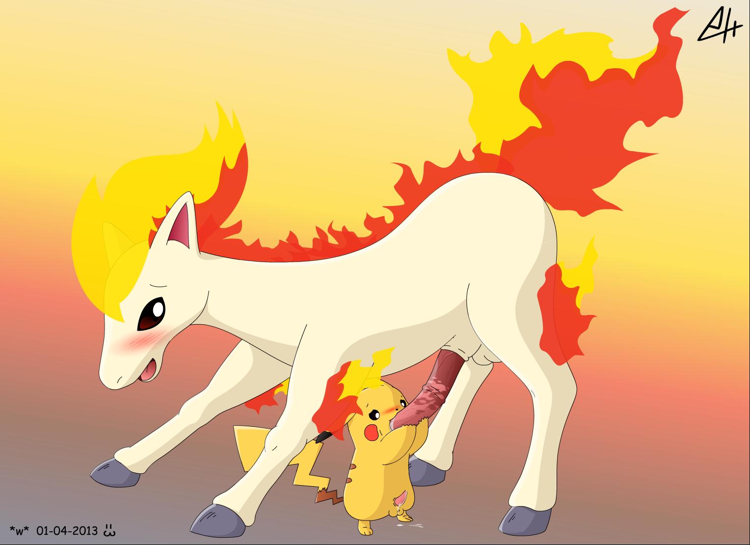 Pikachu - Ponyta