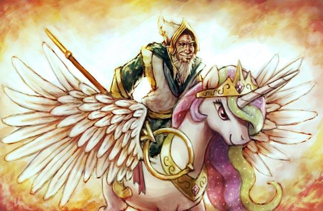 Ezalor and Princess Celestia