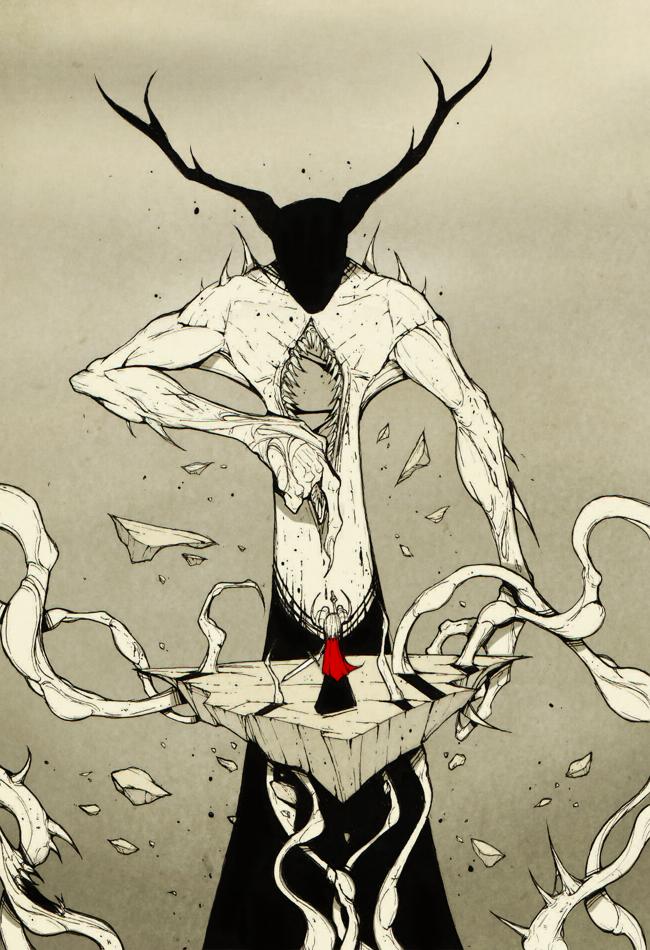 Flipping off the Demon God