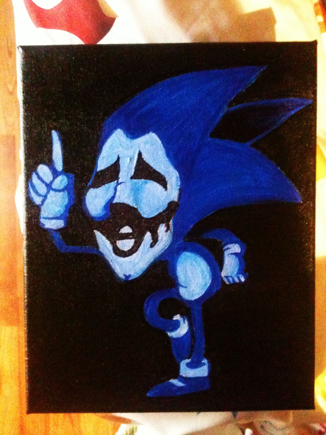 Creepy Sonic Painting by doublemaximus on Newgrounds