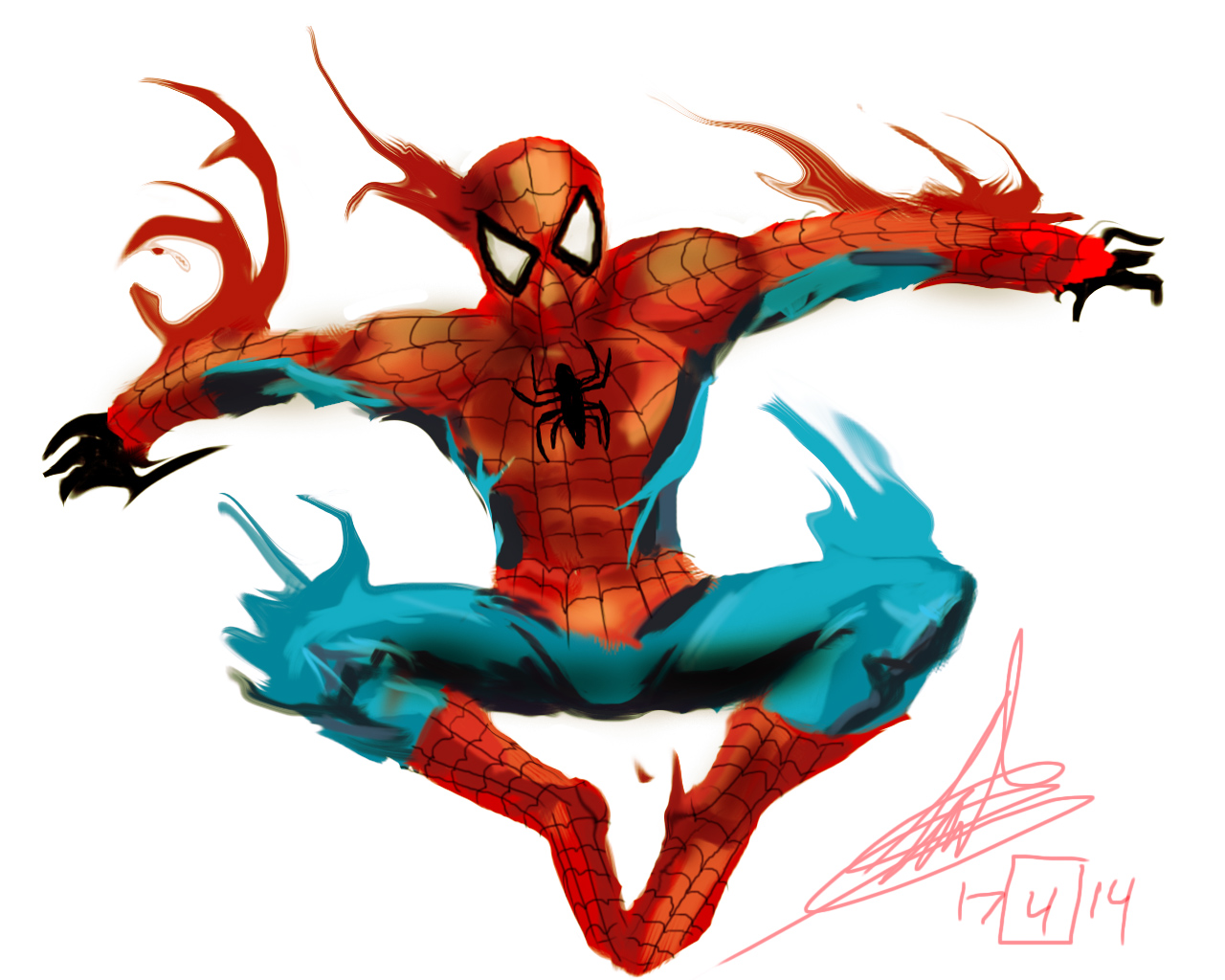 here comes the spiderman!