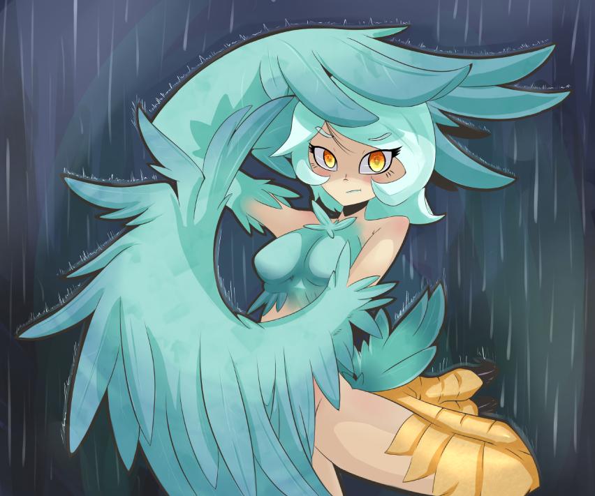 Harpy in the rain