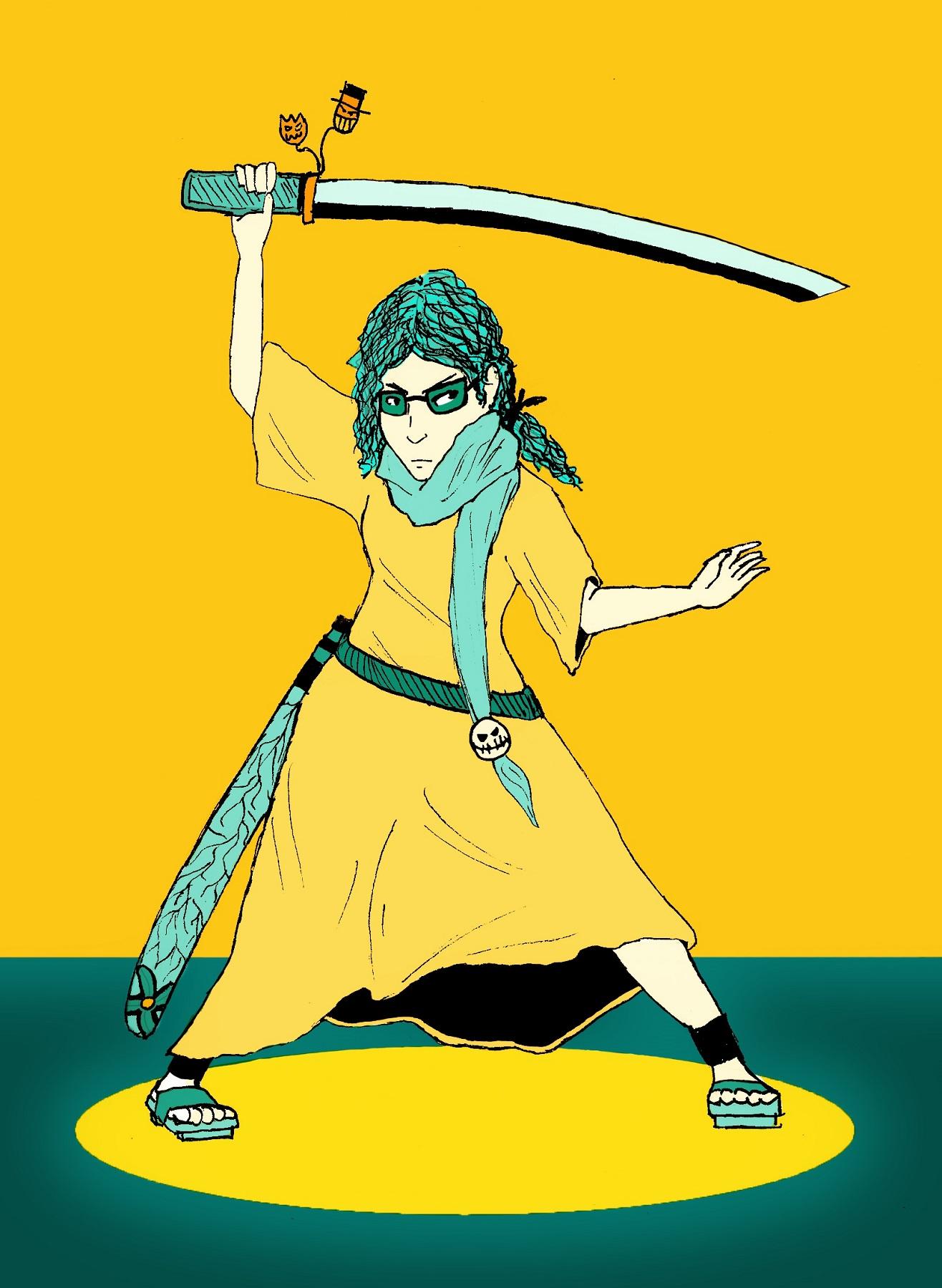 A friend as a Samurai