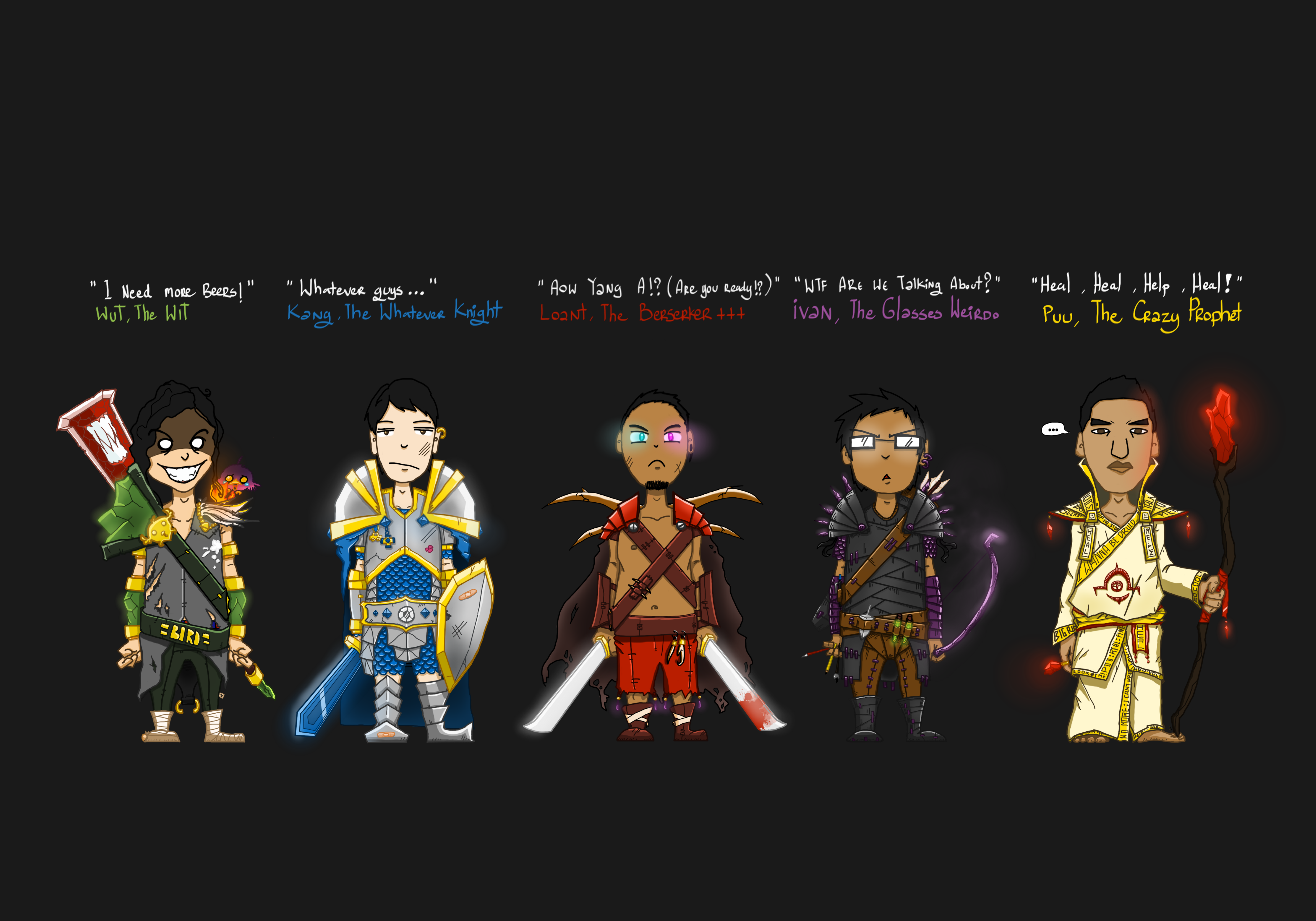 MightyQuest Characters