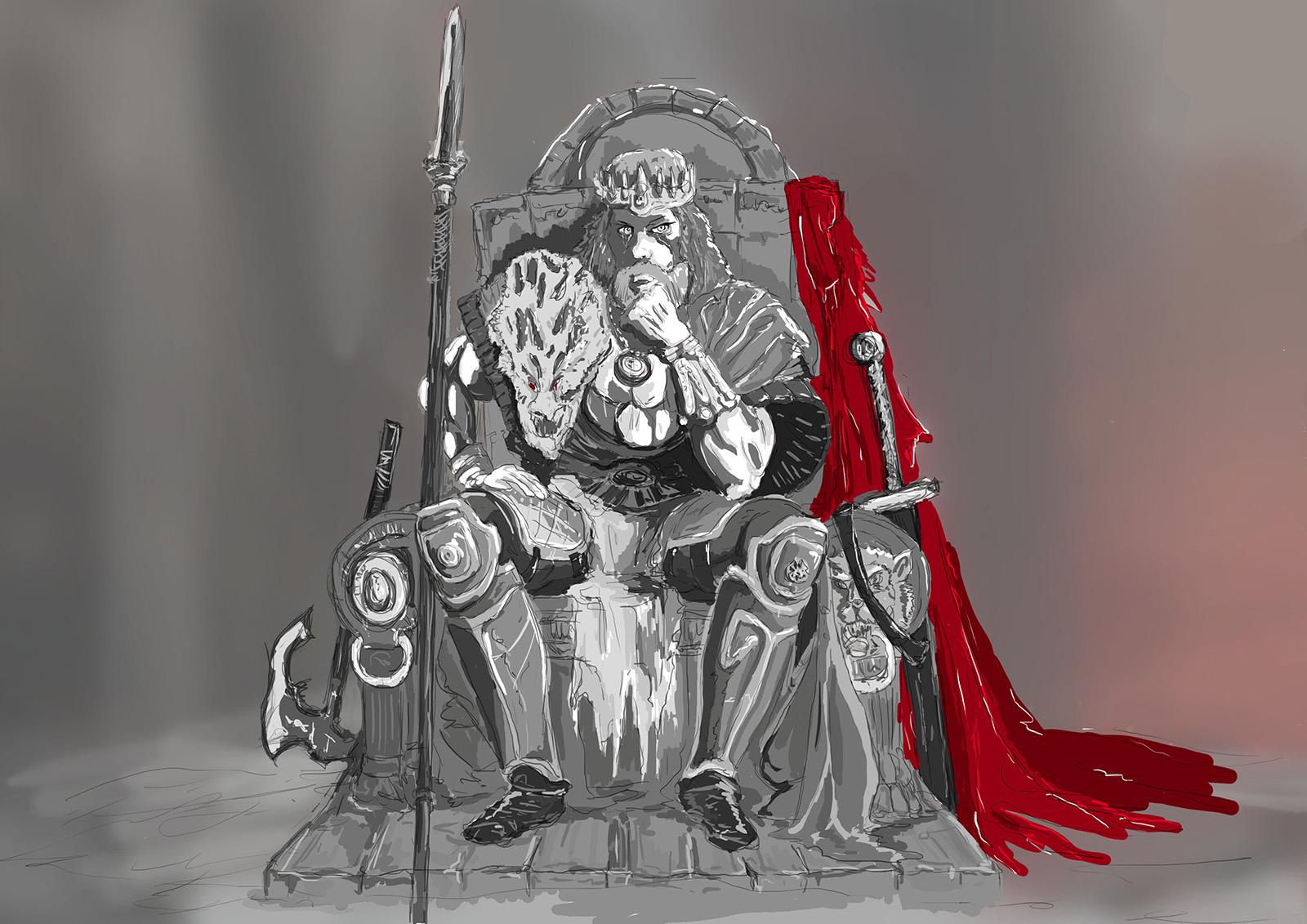 conan on his throne