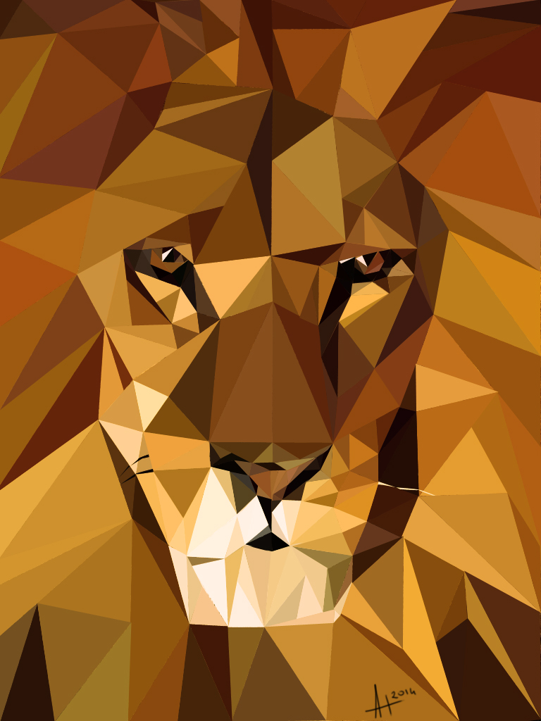 Lion LowPoly