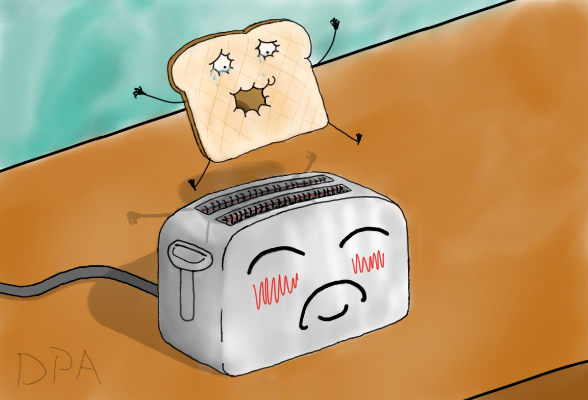 the toaster and the toast