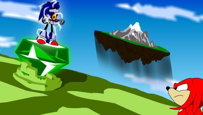 Knuckles vs Mecha Sonic