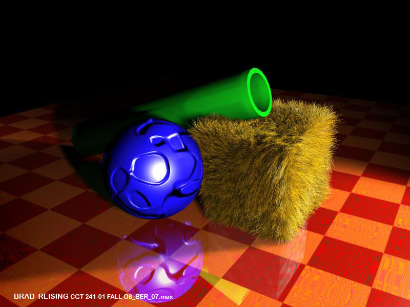 Green Tube on Hey With Ball