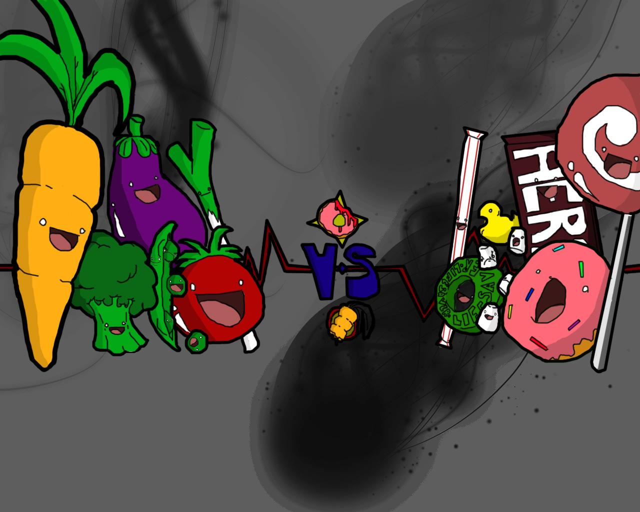 Vegetables vs. Candy