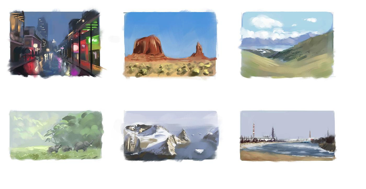 Enviroment Thumbnail Studies