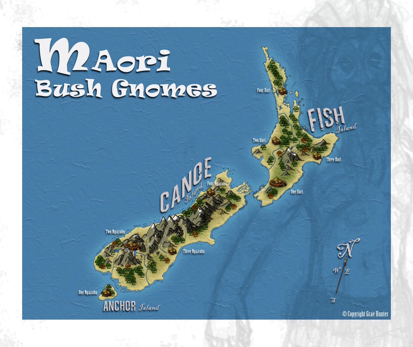 Maori Bush Gnomes - Map