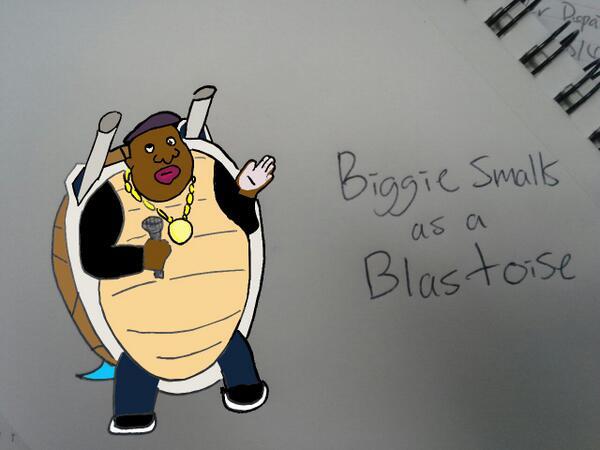 Biggie Smalls as a Blastoise
