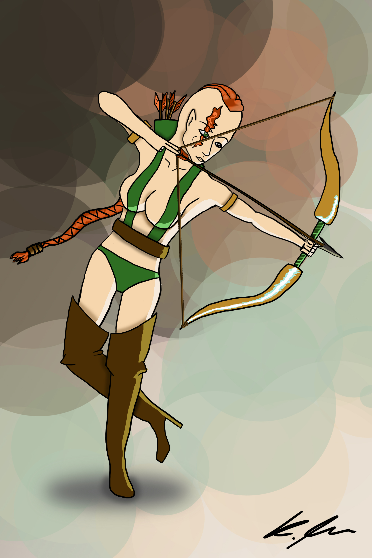 Sexy Jungle Archer