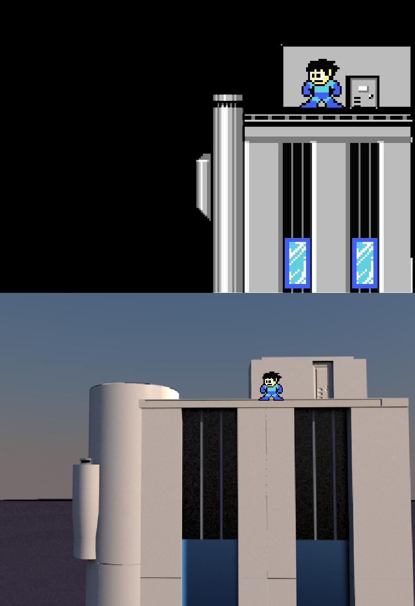3D Megaman 2 Building