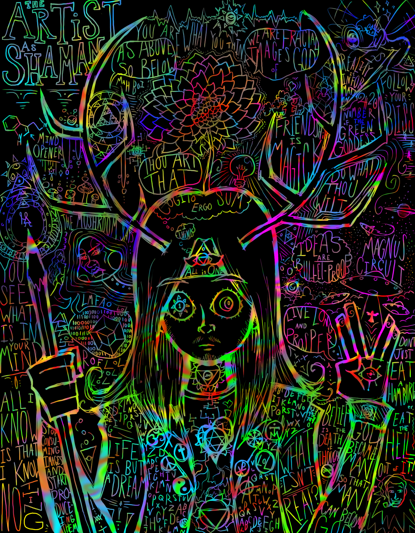 A Psychedelic Self-Portrait