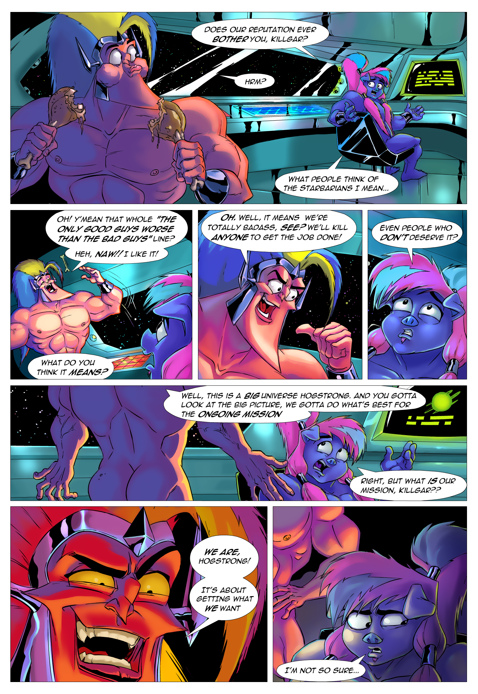 STARBARIANS comic test
