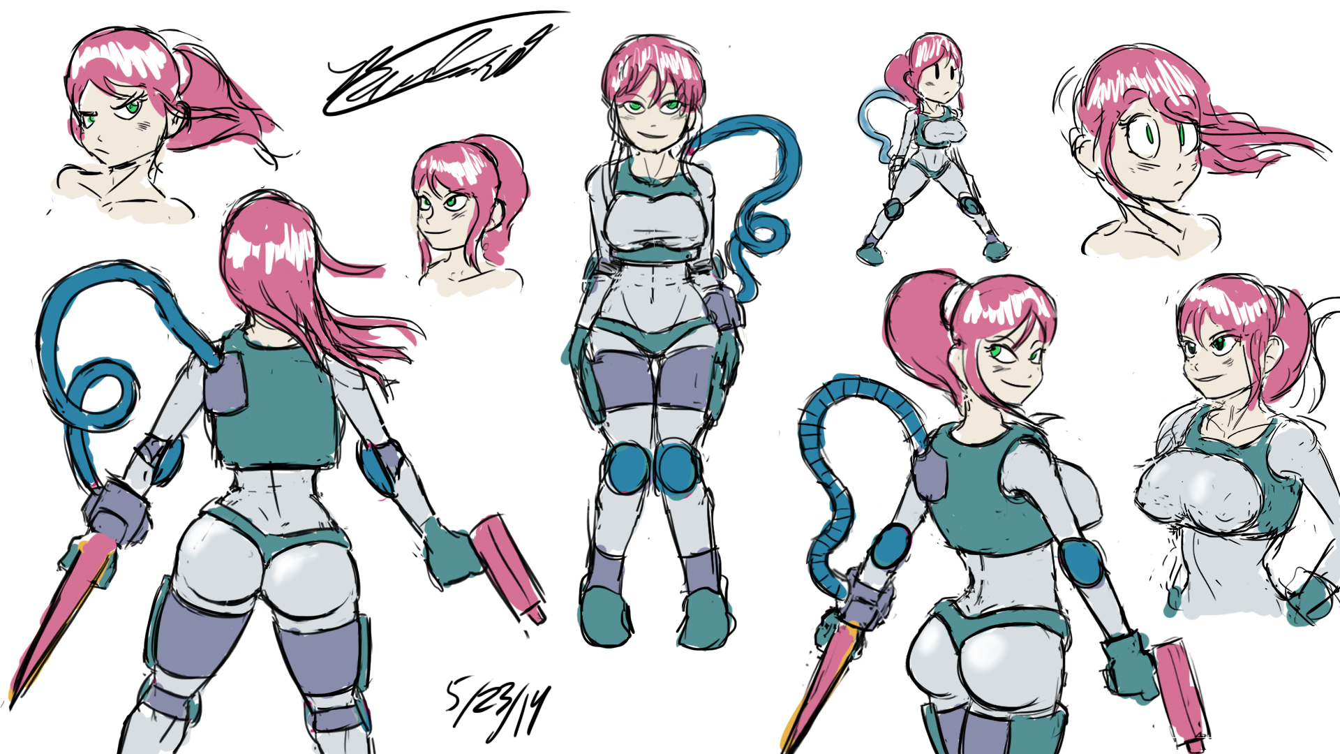 Space Girl Sketches