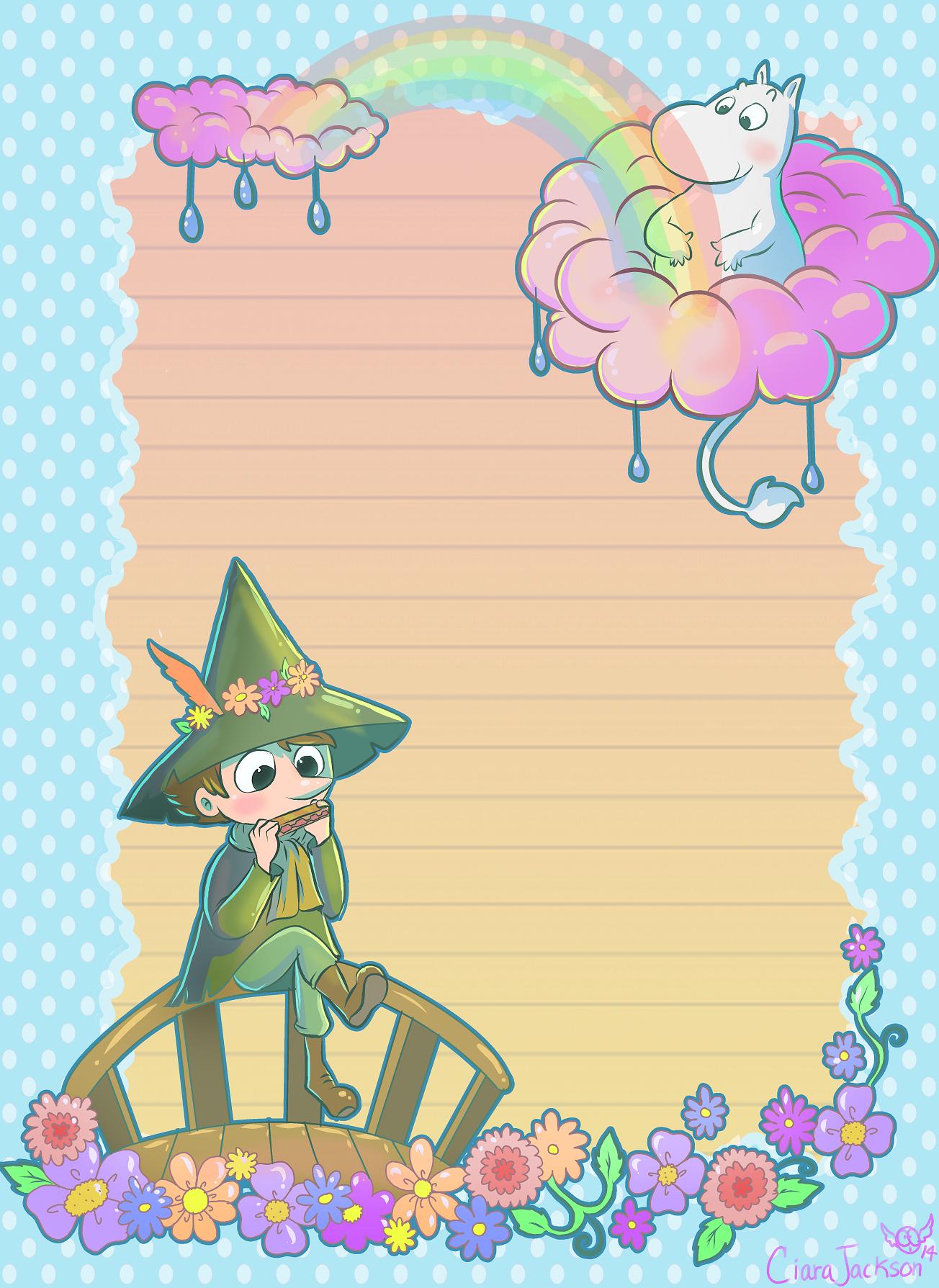 The Moomins Notepaper