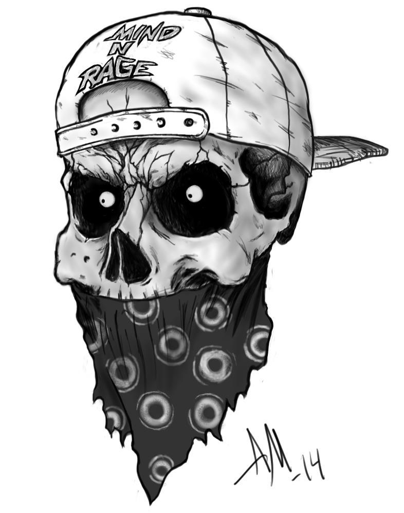 Skull tattoo Commission