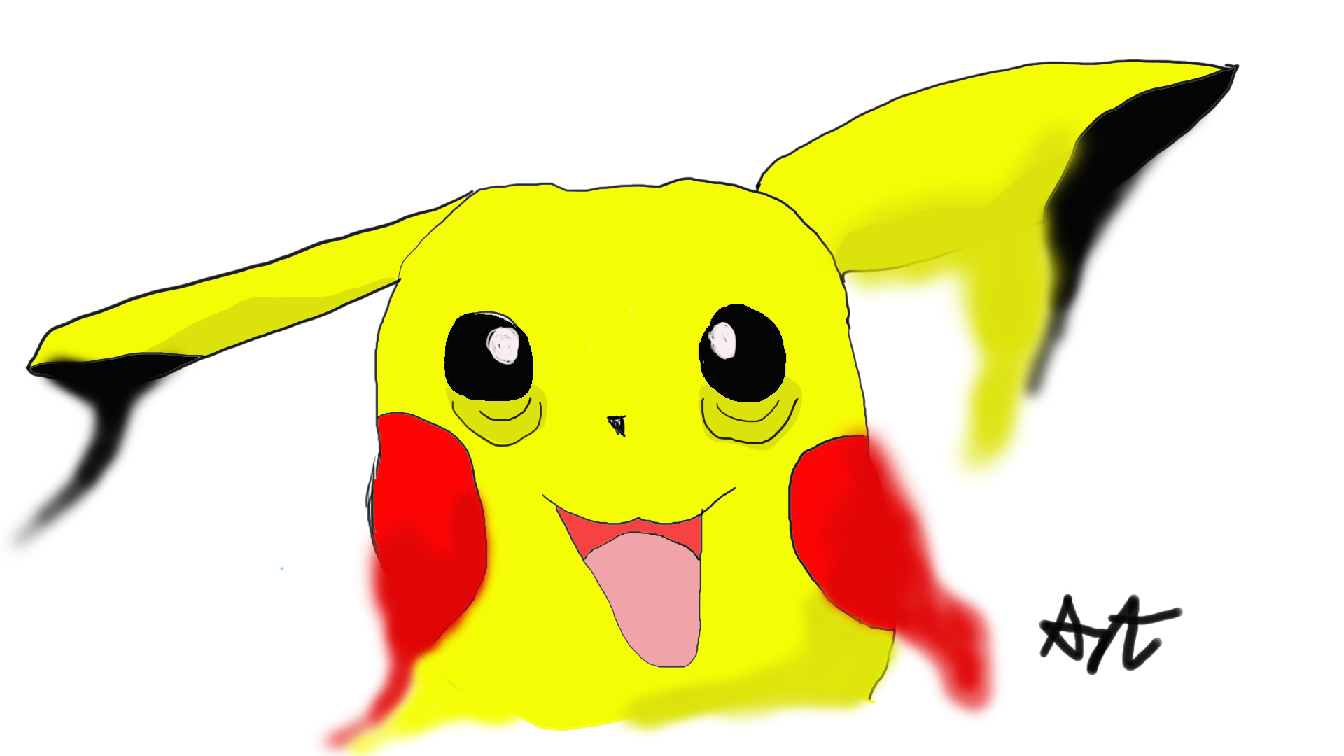 pikachu is melting