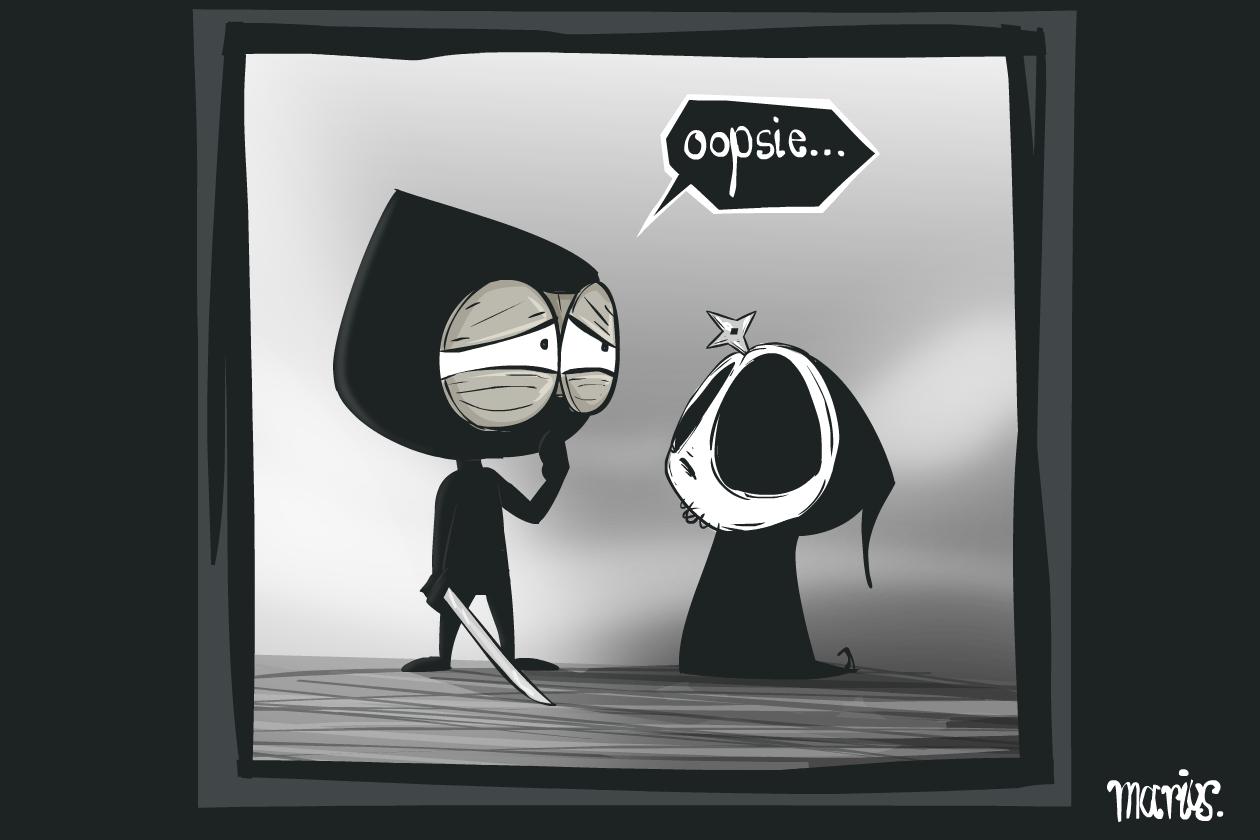 Ninja meets Grimmly