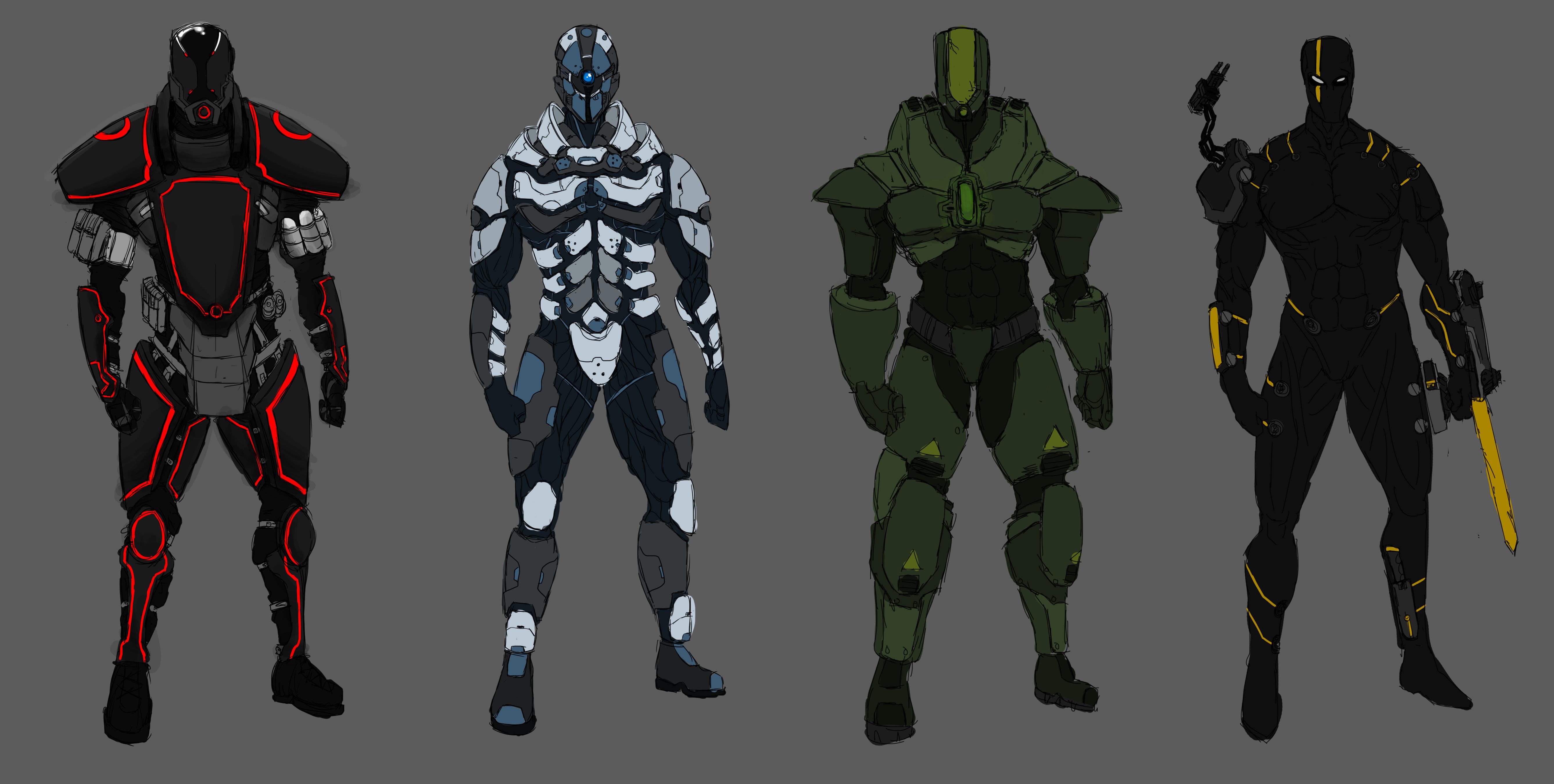 Sci-Fi Suit Designs