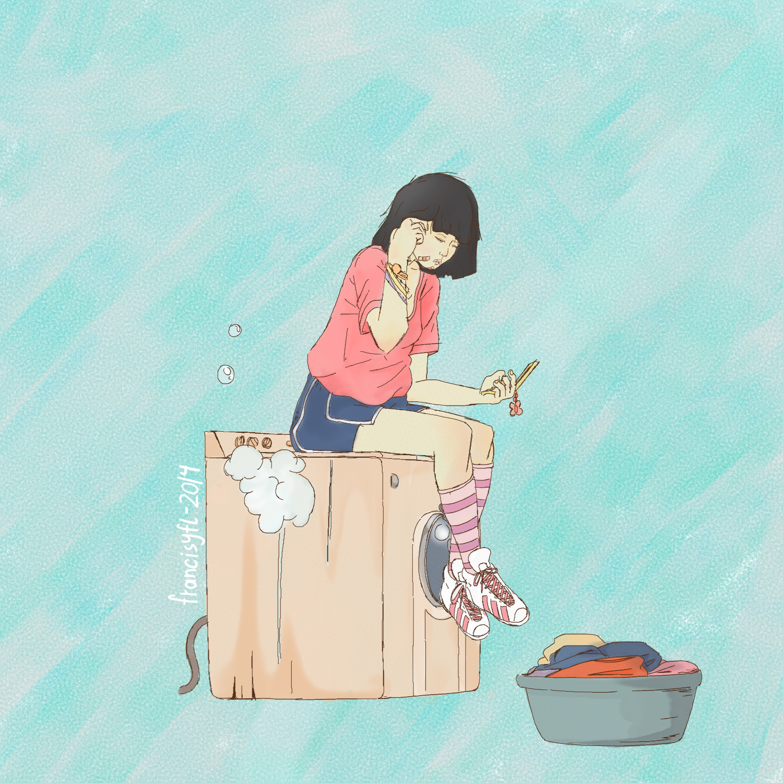 Washing machine girl