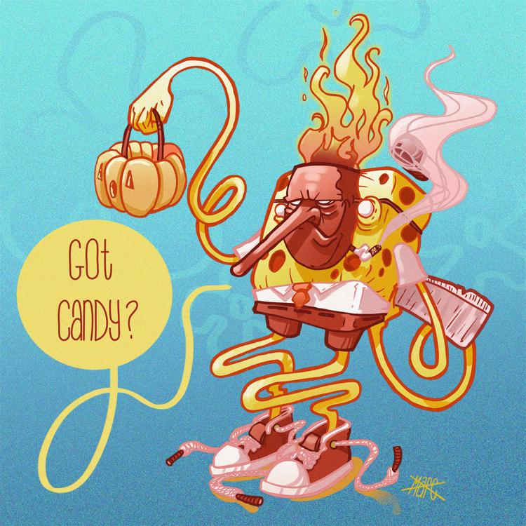 SpongeBob Halloween Pants