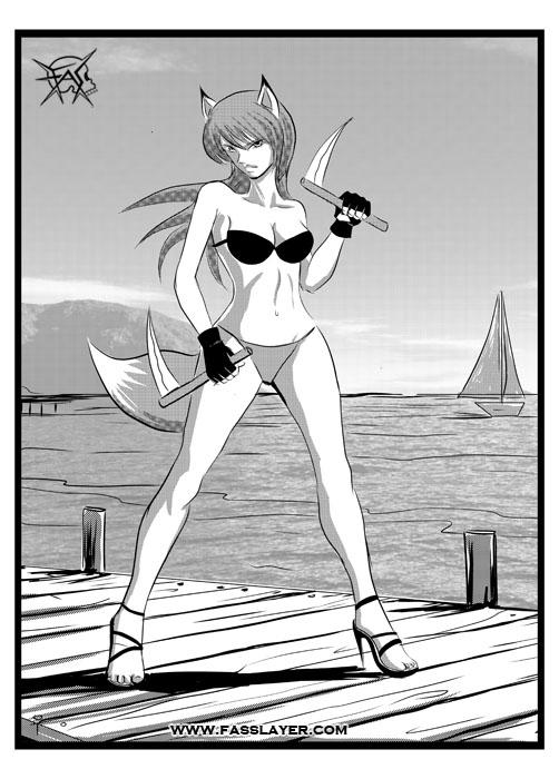 summer fox girl