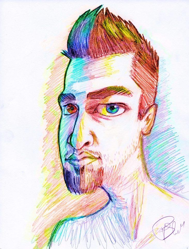Color Separation Self Portrait