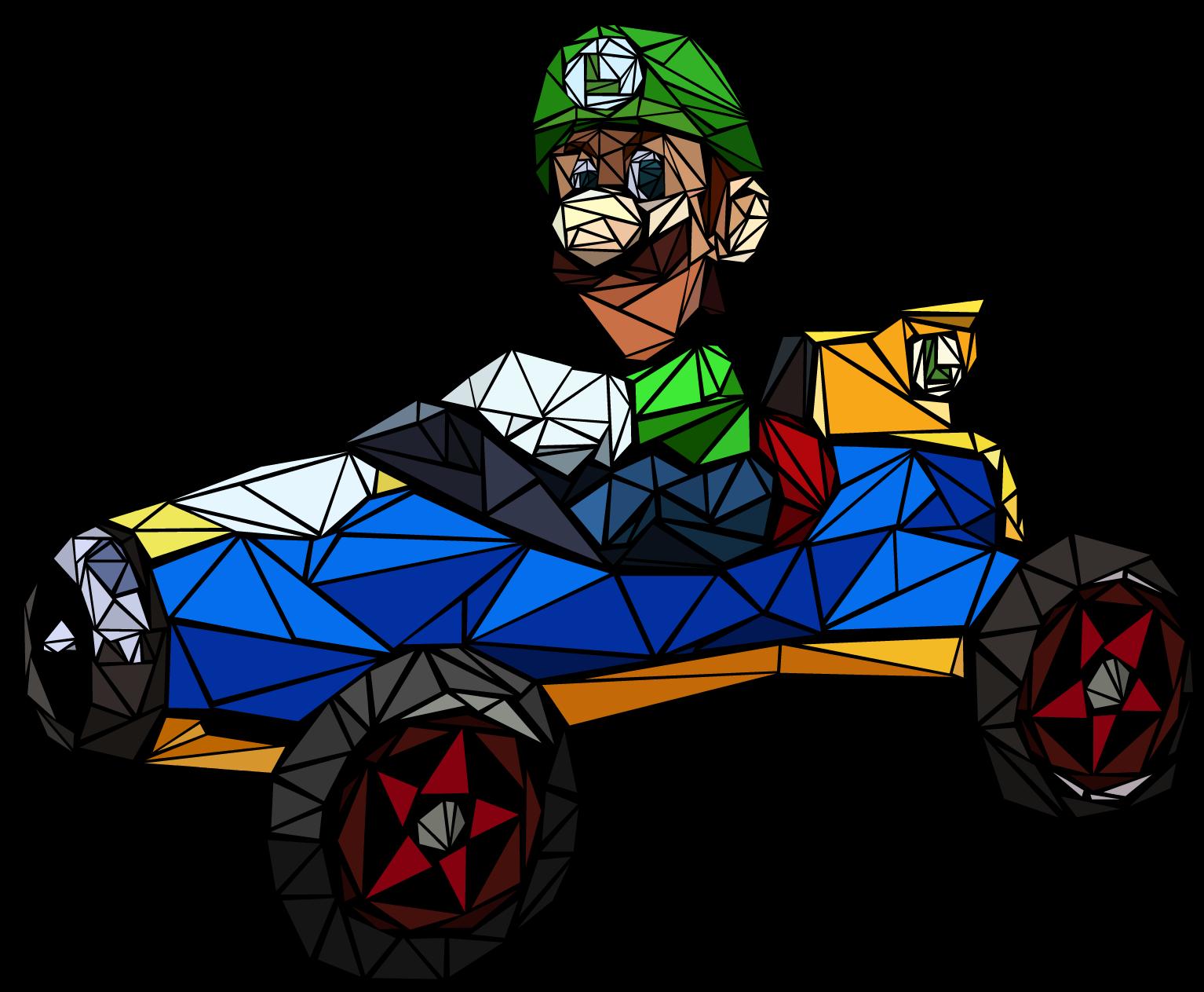 "Luigi's ""Death Stare"" Mosaic"