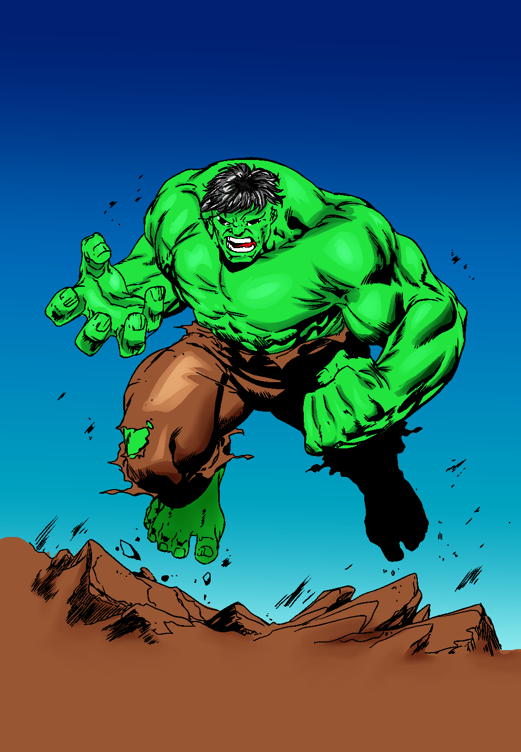 hulk ink and color