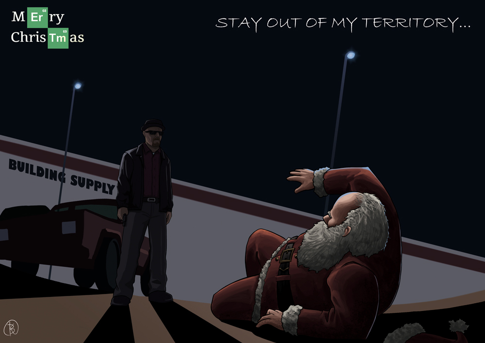 Stay out of my territory!