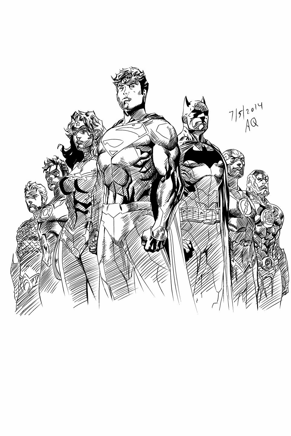 Superheros ink