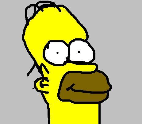 Homer J. Simpson - Caricature