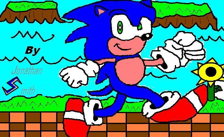 Sonic in Geen Hill Zone