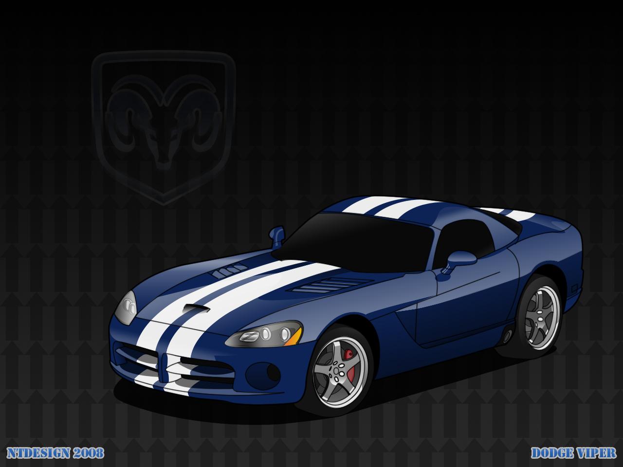 Dodge Viper Vector Art