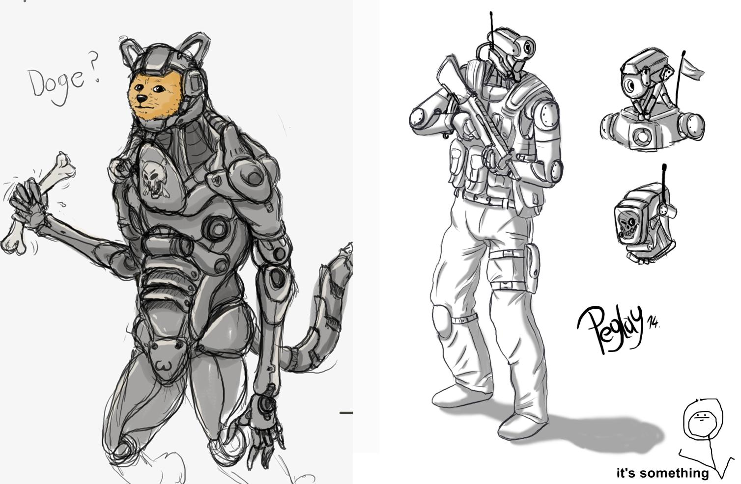 Random Robot Sketches