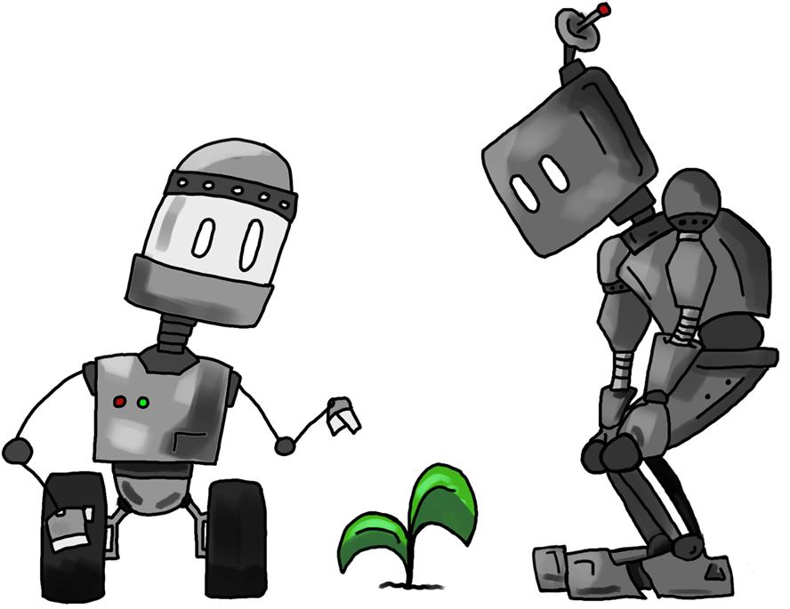 Robots t-shirt design