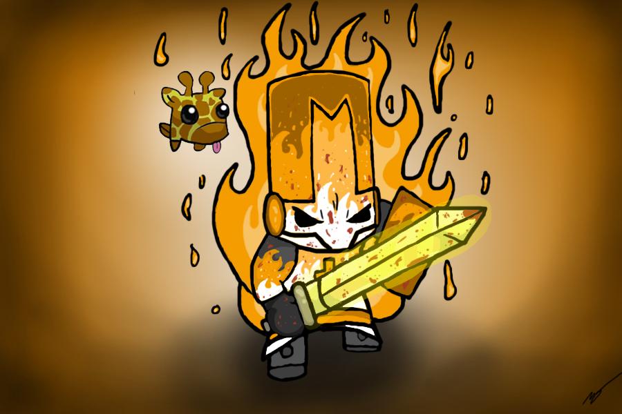 The Orange Knight of Fire