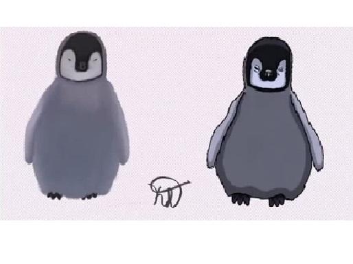 Realistic/Cartoon Baby Penguin