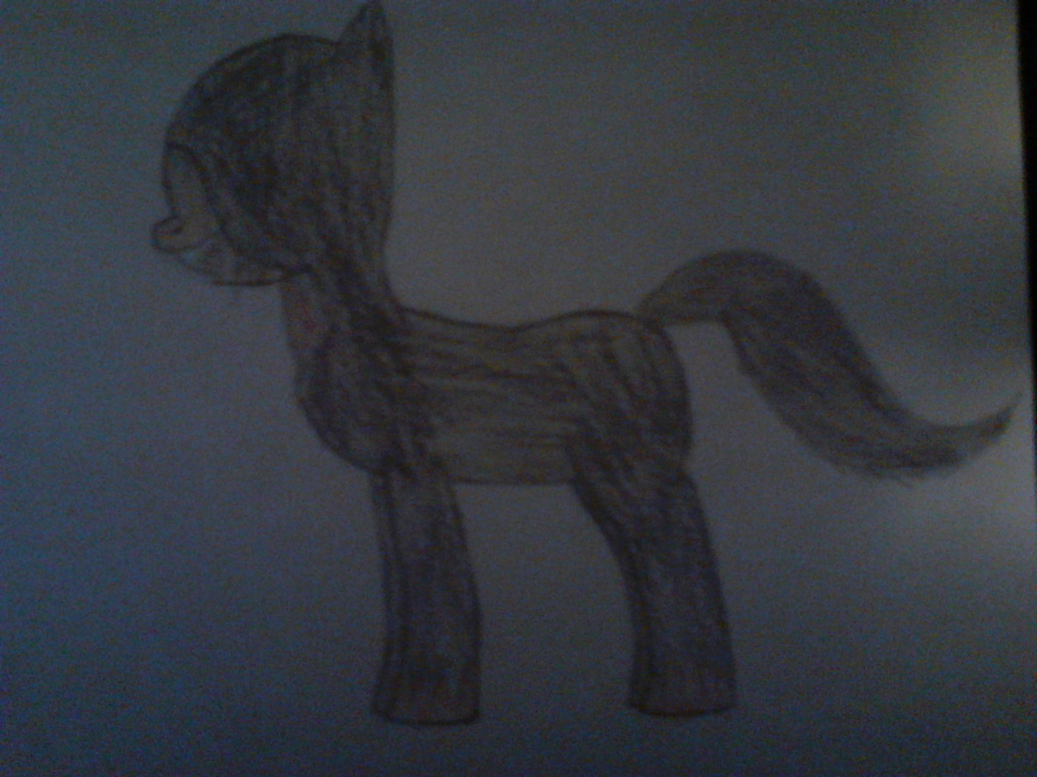 Darth Jamek as a Pony SideView