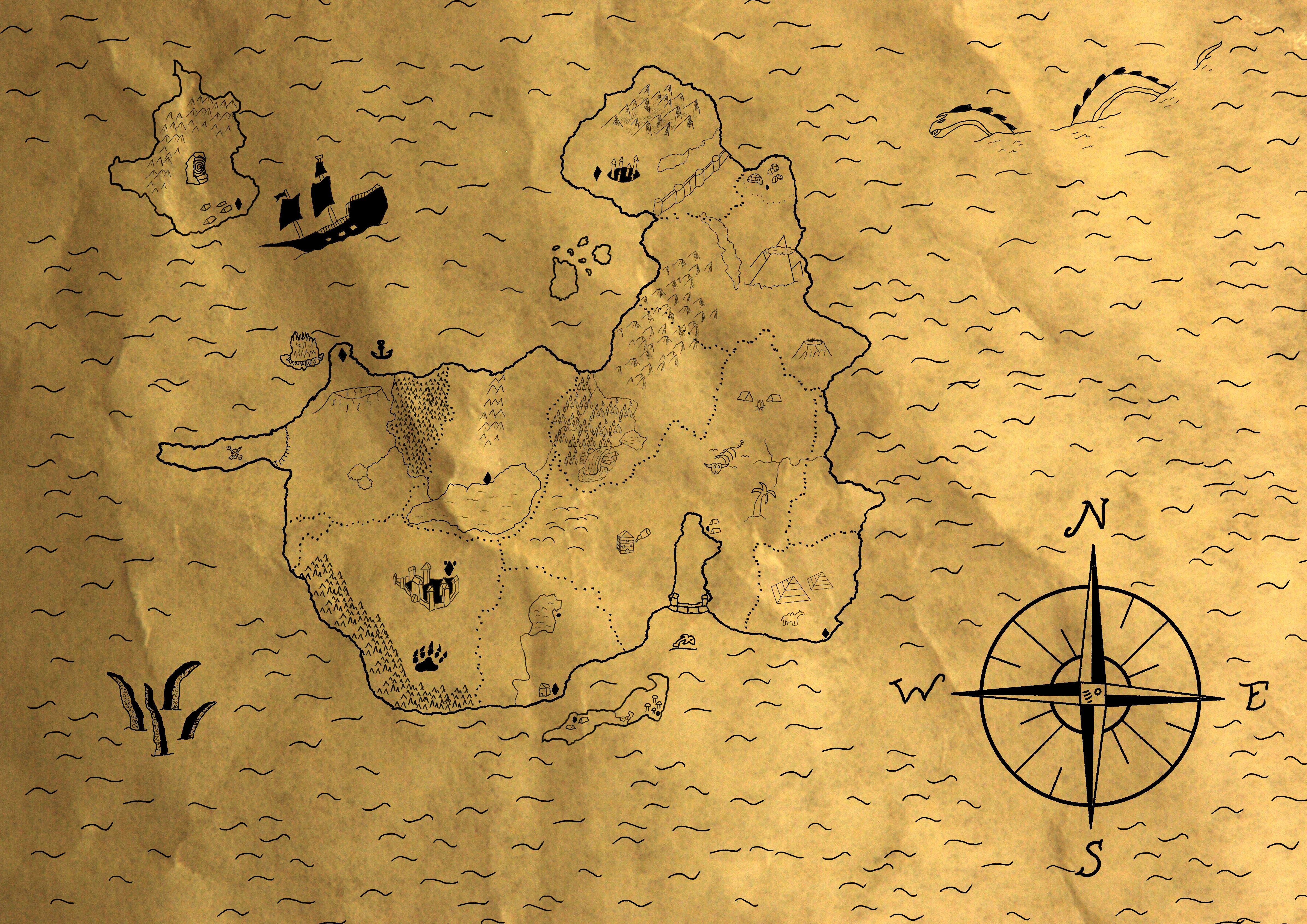 Fantasy Map On Parchment Paper By MrWubbles On Newgrounds - Us parchment map