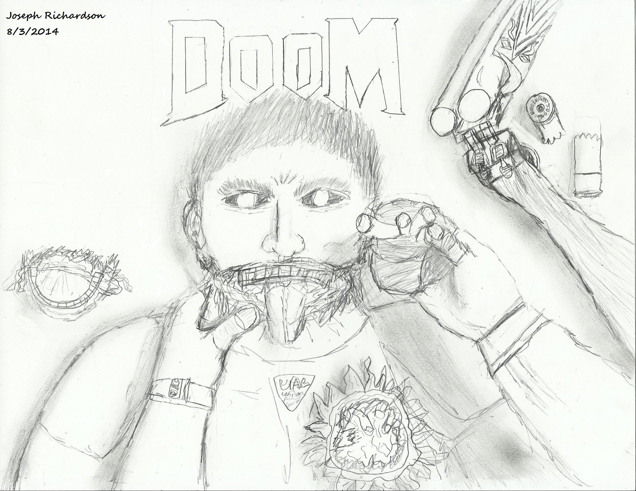 DooM/DooM 4 hype scetch
