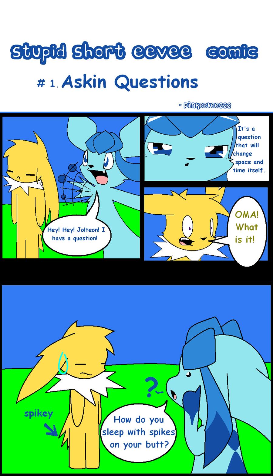 Stupid Short eevee comic 1