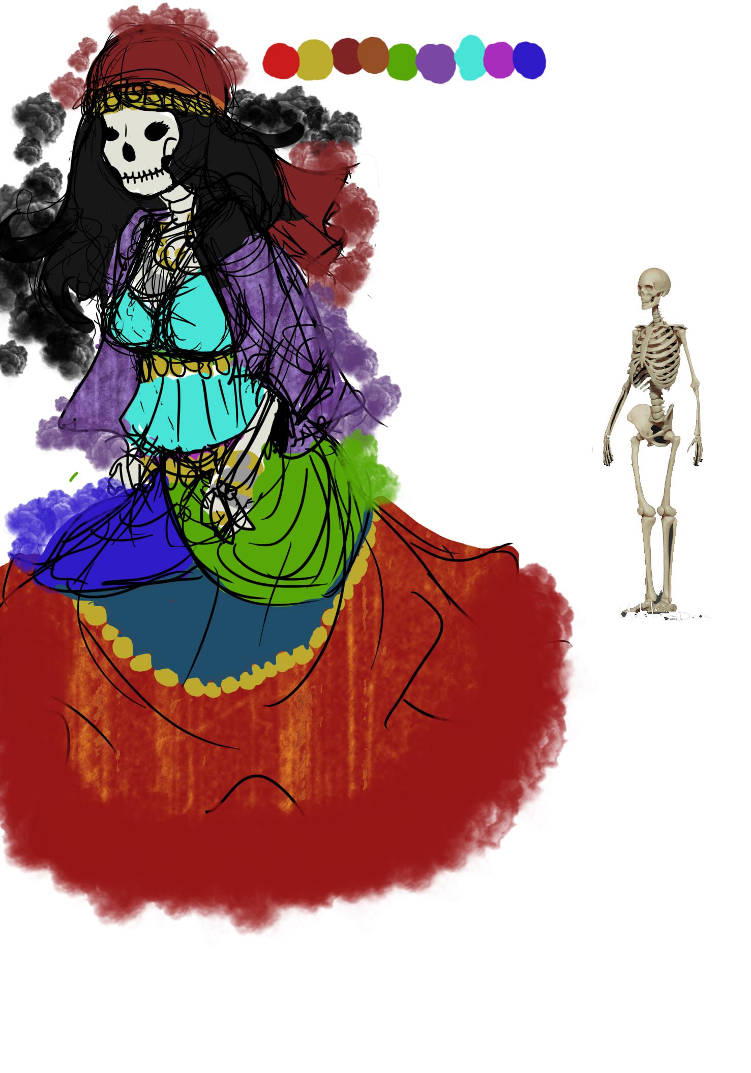 Gypsy Skeleton WIP