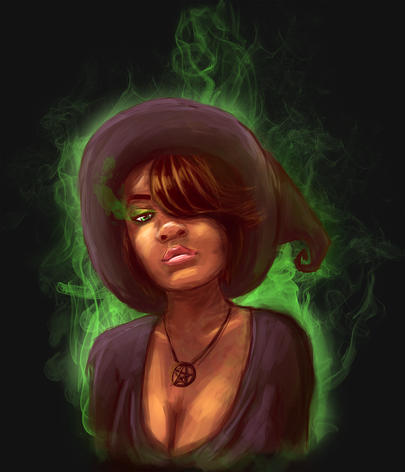 Black magic woman.