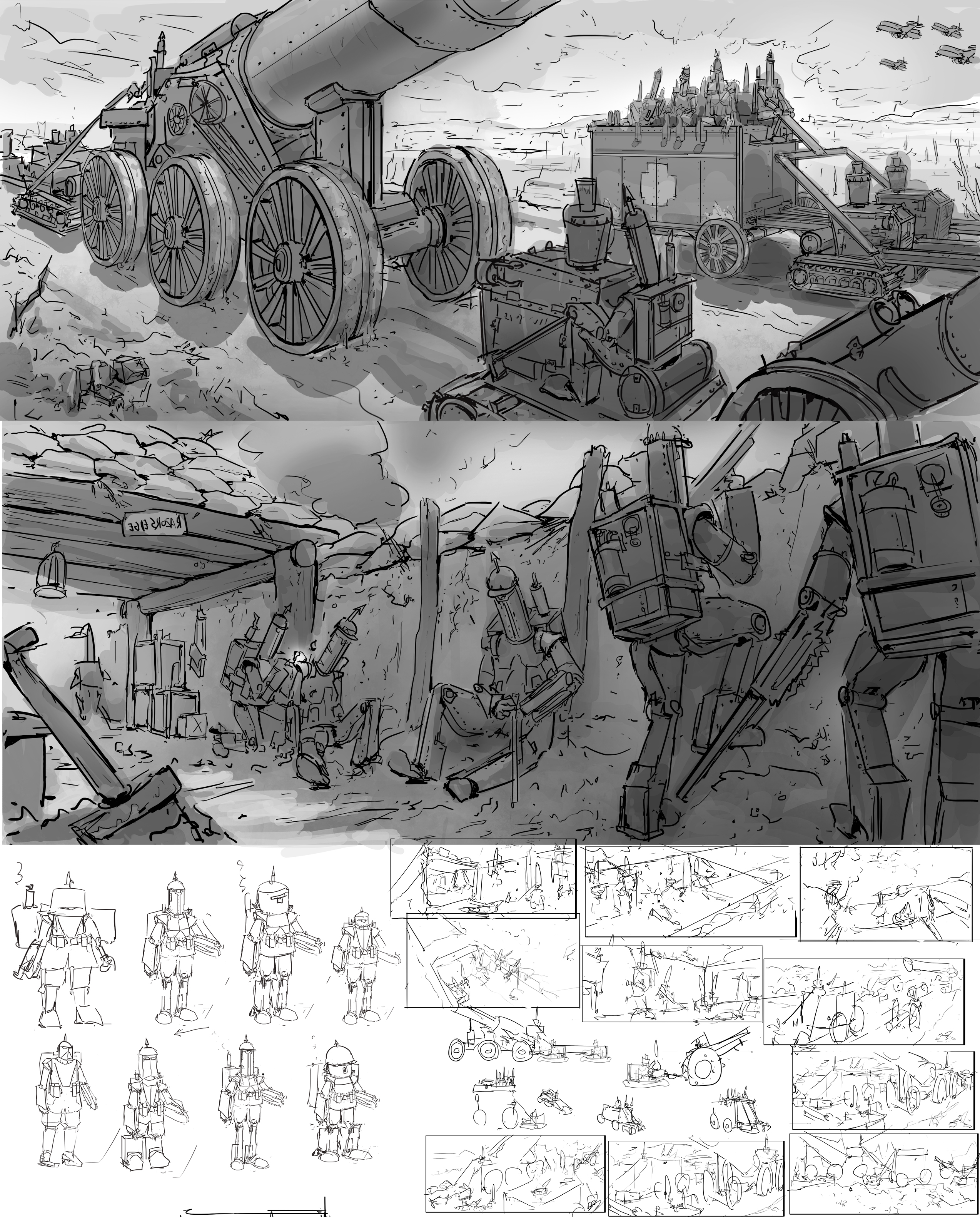 Robots are humans WW1(sketches