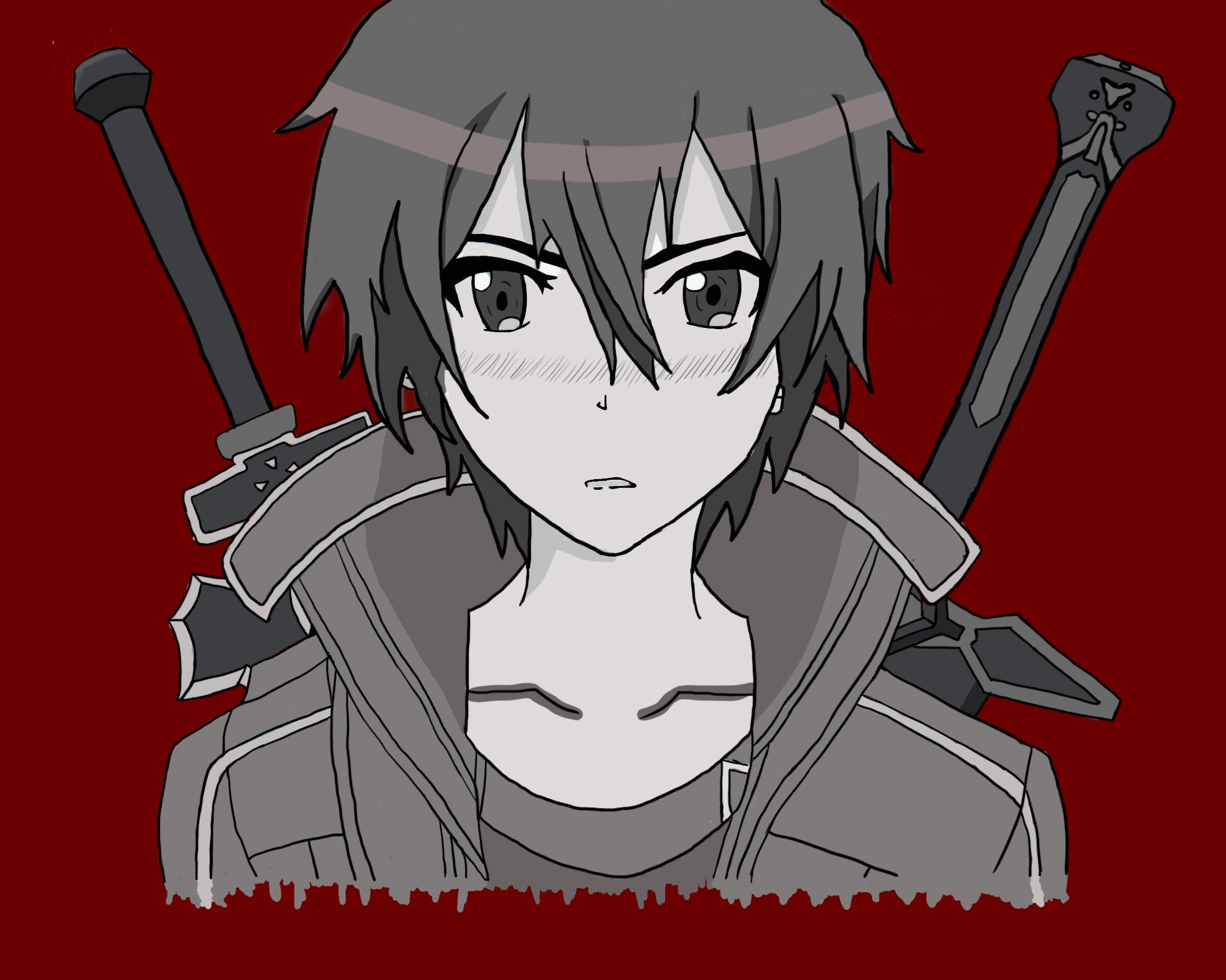 SAO Kirito Drawing